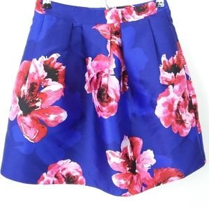 NWOT! BCX Pleated Skirt Juniors Floral A Line -20